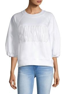7 For All Mankind Puff Sleeve Logo Sweatshirt