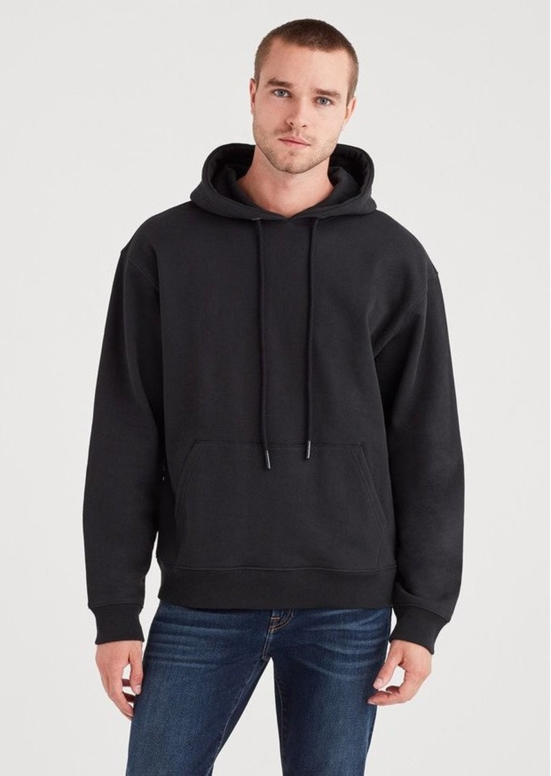7 For All Mankind Pull Over Hoodie in Black