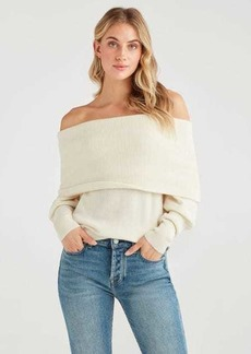 7 For All Mankind Pullover Sweater in Soft White