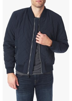 7 For All Mankind Quilted Bomber Jacket in Navy
