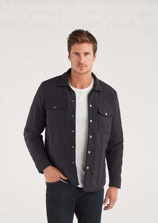 7 For All Mankind Quilted Shirt Jacket in Black