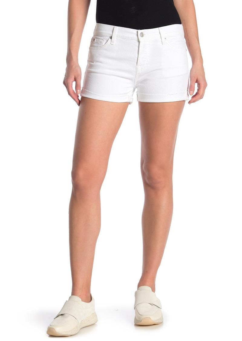 7 For All Mankind Raw Cuff Shorts