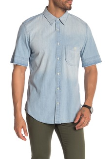 7 For All Mankind Released Hem Short Sleeve Shirt