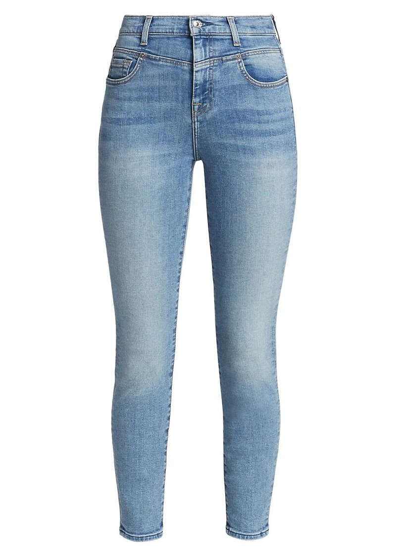7 For All Mankind Retro Corset High-Rise Skinny Jeans
