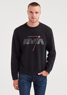 7 For All Mankind Reversible Crewneck Sweatshirt in Black