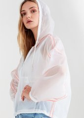 7 For All Mankind Reversible Parachute Jacket in White with Electric Orange
