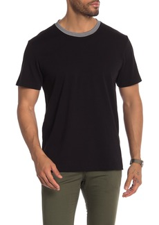 7 For All Mankind Ringer Short Sleeve Tee