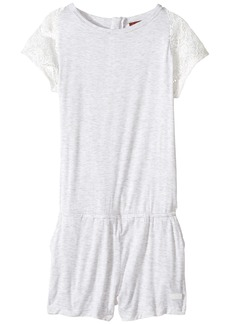 7 For All Mankind Romper with Lace Sleeve (Big Kids)