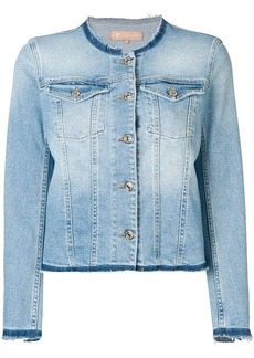 7 For All Mankind round neck denim jacket