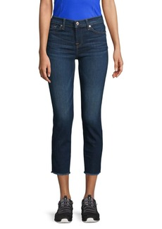 7 For All Mankind Roxann Frayed Hem Ankle Jeans