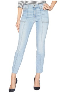 7 For All Mankind Roxanne Ankle w/ Paneled Seams & Cut Off Hem in Vintage Dawn