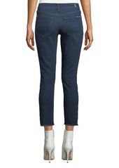 7 For All Mankind Roxanne Faded Cropped Skinny Jeans