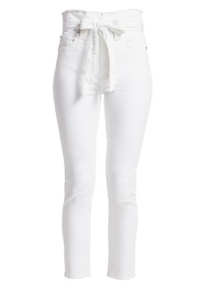 7 For All Mankind Roxanne High-Rise Paperbag Ankle Skinny Jeans