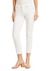 7 For All Mankind Roxanne Mid-Rise Frayed Cigarette Jeans