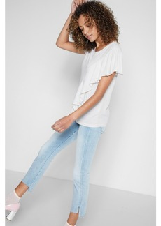 7 For All Mankind Ruffle Tee in Paper