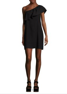 7 For All Mankind Ruffled One-Shoulder Dress