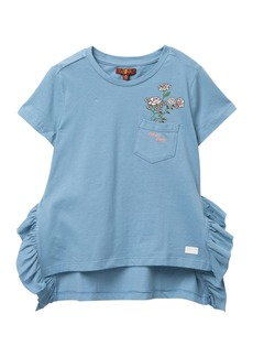 7 For All Mankind Ruffled Top (Big Girls)