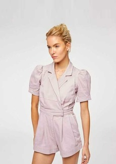 7 For All Mankind Seamed Romper in Soft Lavender