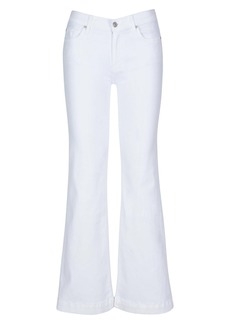 7 For All Mankind® Dojo Tailorless Flare Leg Jeans (Luxe White)