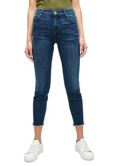 7 For All Mankind® Frayed Ankle Skinny Jeans (Dark Indigo)
