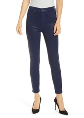7 For All Mankind® High Waist Coated Ankle Skinny Jeans