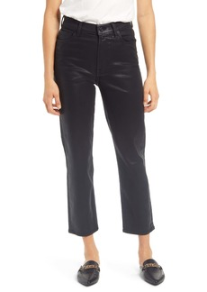 7 For All Mankind® High Waist Coated Crop Straight Leg Jeans