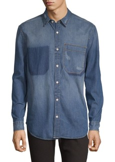 7 For All Mankind Shadow Pocket Denim Button-Down Shirt