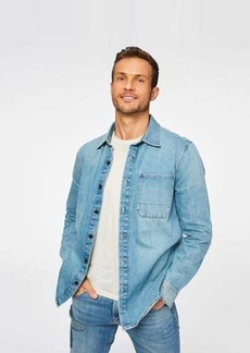 7 For All Mankind Shirt Jacket in Anthem Blue