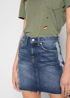 7 For All Mankind Short Skirt with Reverse Step Side Panel in Mojave Dusk