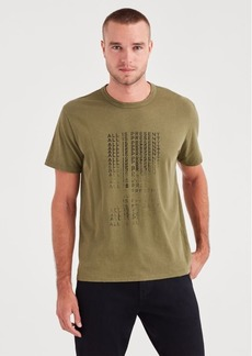 7 For All Mankind Short Sleeve All Is Present Tee in Military Olive