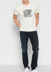 7 For All Mankind Short Sleeve Blacked Out Tee in White