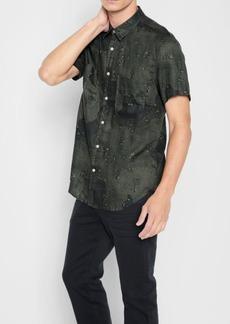7 For All Mankind Short Sleeve Camo Print Shirt in Tonal Camo