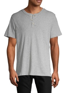 7 For All Mankind Short-Sleeve Cotton Henley