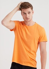 7 For All Mankind Short Sleeve Crew Tee In Orange