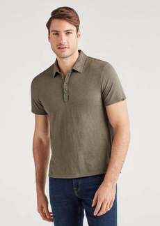 7 For All Mankind Short Sleeve Polo in Army