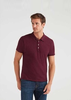 7 For All Mankind Short Sleeve Polo in Aubergine