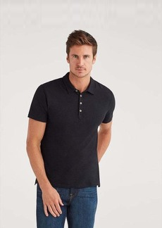 7 For All Mankind Short Sleeve Polo in Black