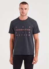 7 For All Mankind Short Sleeve Possibilities Tee in Old Black
