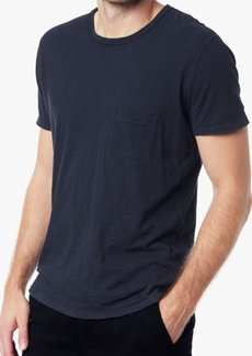 7 For All Mankind Short Sleeve Raw Pocket Crew in Navy