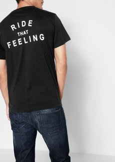 7 For All Mankind Short Sleeve Ride That Feeling Tee in Black