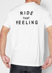 7 For All Mankind Short Sleeve Ride That Feeling Tee in White