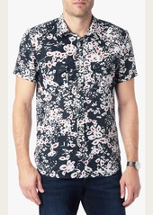 7 For All Mankind Short Sleeve Shirt in Printed Floral
