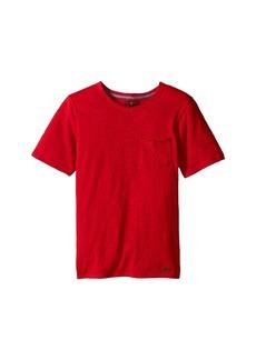 7 For All Mankind Short Sleeve Slub Jersey V-Neck Pocket T-Shirt (Big Kids)