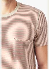 7 For All Mankind Short Sleeve Stripe Ringer Tee in Ecru Nova Stripe