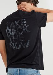 7 For All Mankind Short Sleeve Take Back The Now Tee in Black