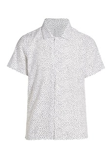 7 For All Mankind Short-Sleeve Triangle Print Shirt