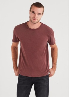 7 For All Mankind Short Sleeve Vintage Tee in Dark Burgundy