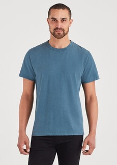7 For All Mankind Short Sleeve Vintage Tee in Steel Blue