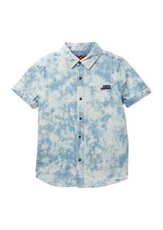 7 For All Mankind Short Sleeve Woven Shirt (Little Boys)