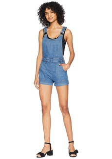 7 For All Mankind Side Button Detail Short Overalls in Heritage Artwalk 3